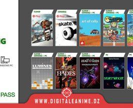 Xbox Game Pass Titres d'août