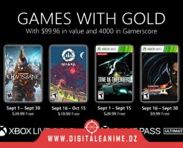 Xbox Games With Gold pour septembre 2021