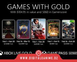 Xbox With Gold jeux gratuits pour février 2021